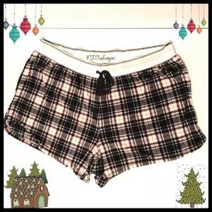 🎄PJ Salvage Velour Plaid Pajama Shorts Nordstrom
